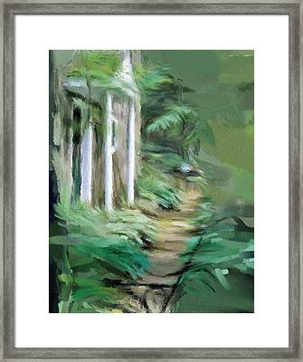Enchanted English Folly Framed Print by Phil Ward