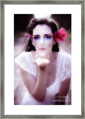 Enchanted Fairy Kisses Framed Print