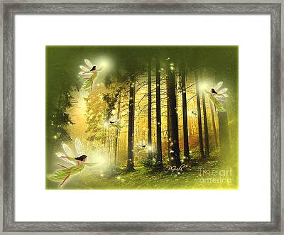 Framed Print featuring the digital art Enchanted Forest - Fantasy Art By Giada Rossi by Giada Rossi