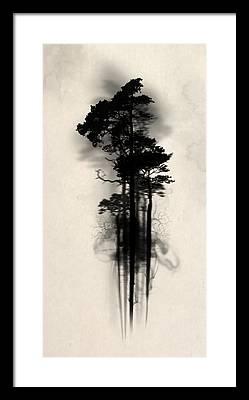 Fog Paintings Framed Prints