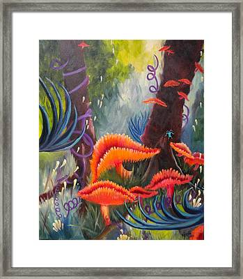 Framed Print featuring the painting Enchanted Forest by Renate Nadi Wesley