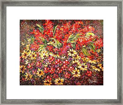Enchanted Garden Framed Print by Natalie Holland