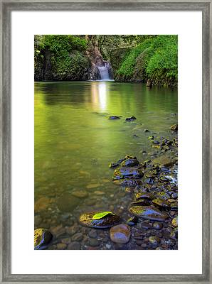 Enchanted Gorge Reflection Framed Print by David Gn
