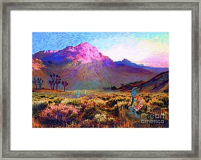Enchanted Kokopelli Dawn Framed Print by Jane Small