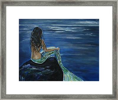 Enchanted Mermaid Framed Print by Leslie Allen