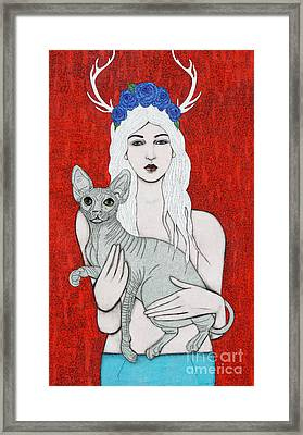 Framed Print featuring the mixed media Enchanted by Natalie Briney