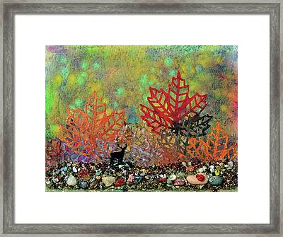 Enchanted Pathways Framed Print by Donna Blackhall