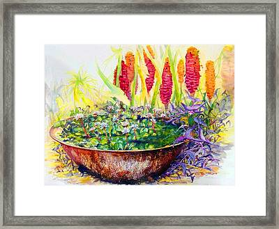 Enchanted Prince At The Pond Framed Print by Estela Robles