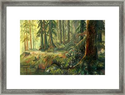 Enchanted Rain Forest Framed Print