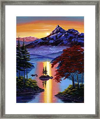 Enchanted Reflections Framed Print by David Lloyd Glover