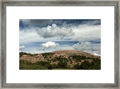 Enchanted Rock Rocks Framed Print
