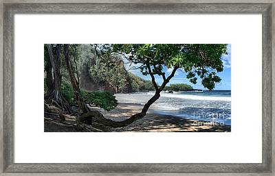 Enchanted Rocks Koki Beach Haneoo Hana Maui Hawaii Framed Print