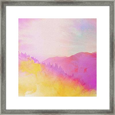 Framed Print featuring the digital art Enchanted Scenery #2 by Klara Acel