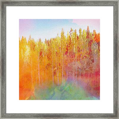 Framed Print featuring the digital art Enchanted Scenery #3 by Klara Acel