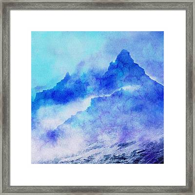 Framed Print featuring the digital art Enchanted Scenery #4 by Klara Acel