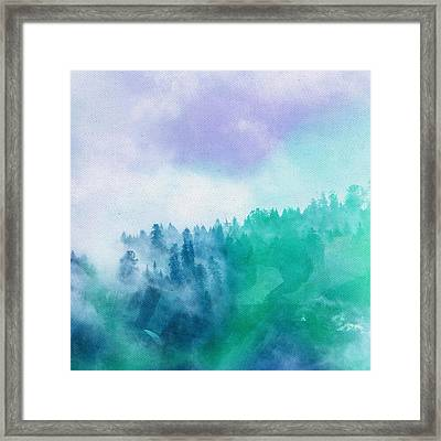 Framed Print featuring the photograph Enchanted Scenery by Klara Acel