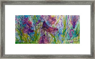 Enchanted Sealife Party Framed Print