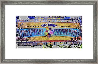 Enchanted Tiki Birds Framed Print