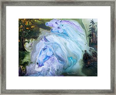 Enchanted Waters Framed Print by Sherry Shipley