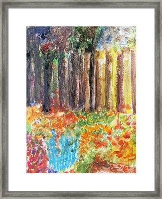 Enchanted Woods Framed Print by Trilby Cole
