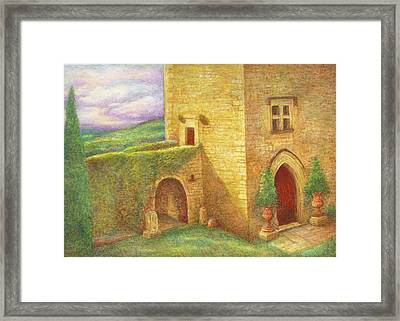 Enchanting Fairytale Chateau Landscape Framed Print