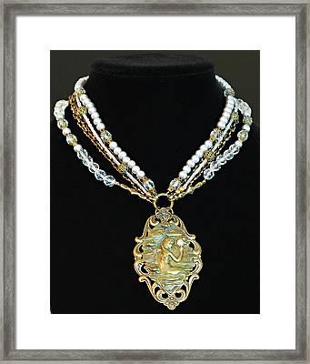 Enchanting Lady Choker Necklace Framed Print by Renee Hong