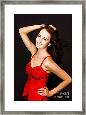 Enchanting Lively Woman Framed Print by Jorgo Photography - Wall Art Gallery