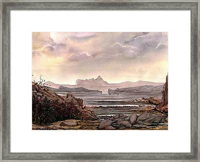 Framed Print featuring the painting Enchantment by Mikhail Savchenko