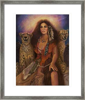 Enchantress Of The Forrest Framed Print