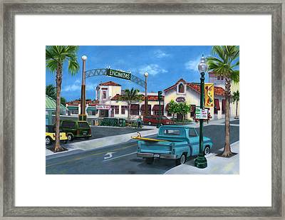 Encinitas Dreaming Framed Print by Lisa Reinhardt