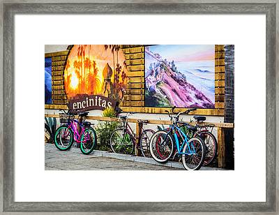 Bicycle Parking Framed Print
