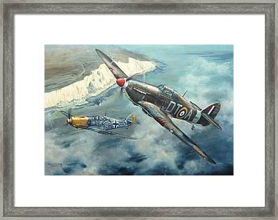 'encounter Over Beachy Head' Framed Print