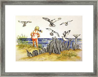 Encountering The Winged Ones Framed Print