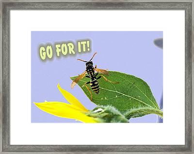 Encouragement Framed Print