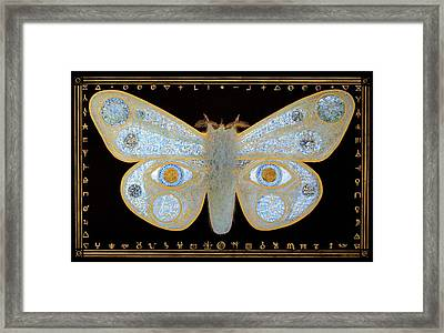 Framed Print featuring the painting Encryption by Laurie Stewart