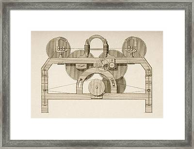 End Elevation Of Throstle. Drawn By Framed Print by Vintage Design Pics
