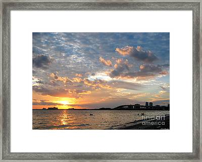 End Of A Beach Day Framed Print by Keiko Richter
