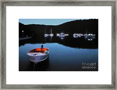 End Of A Beautiful Day Framed Print by Kaye Menner