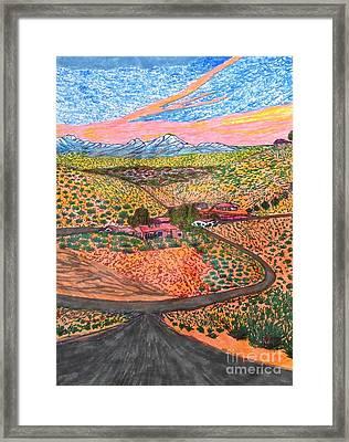 End Of A Perfect Day  Framed Print by Ishy Christine Degyansky