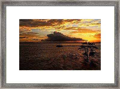 End Of A Perfect Day Framed Print by Judy Vincent