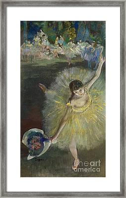 End Of An Arabesque Framed Print by Edgar Degas