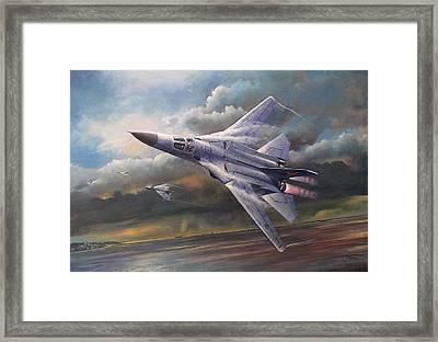 'end Of An Era' F111 Qld Final Flight Framed Print by Colin Parker