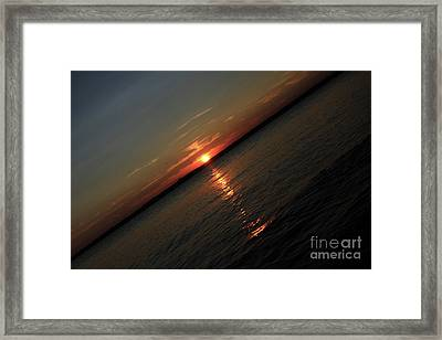 End Of An Off Balance Day Framed Print by Karol Livote