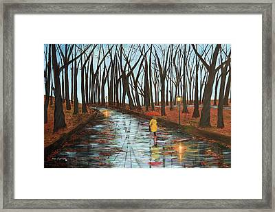End Of Autumn Framed Print