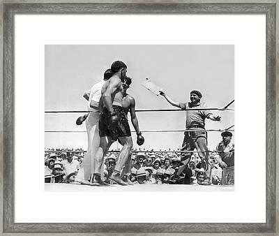 End Of Baer-uzcudun Fight Framed Print