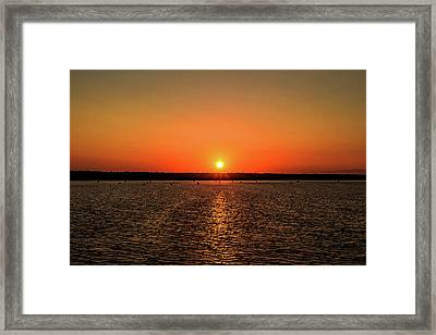 Framed Print featuring the photograph End Of Day by April Reppucci