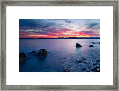 End Of Day At Alki Beach Framed Print by Dan Mihai