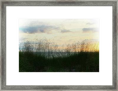 Framed Print featuring the photograph End Of Day At Pentwater by Michelle Calkins