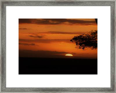 End Of Day Framed Print