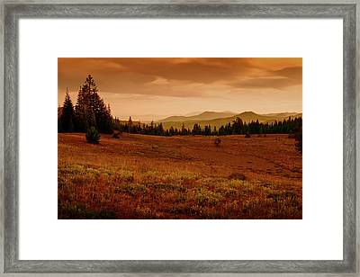 End Of Day Framed Print by Frank Wilson